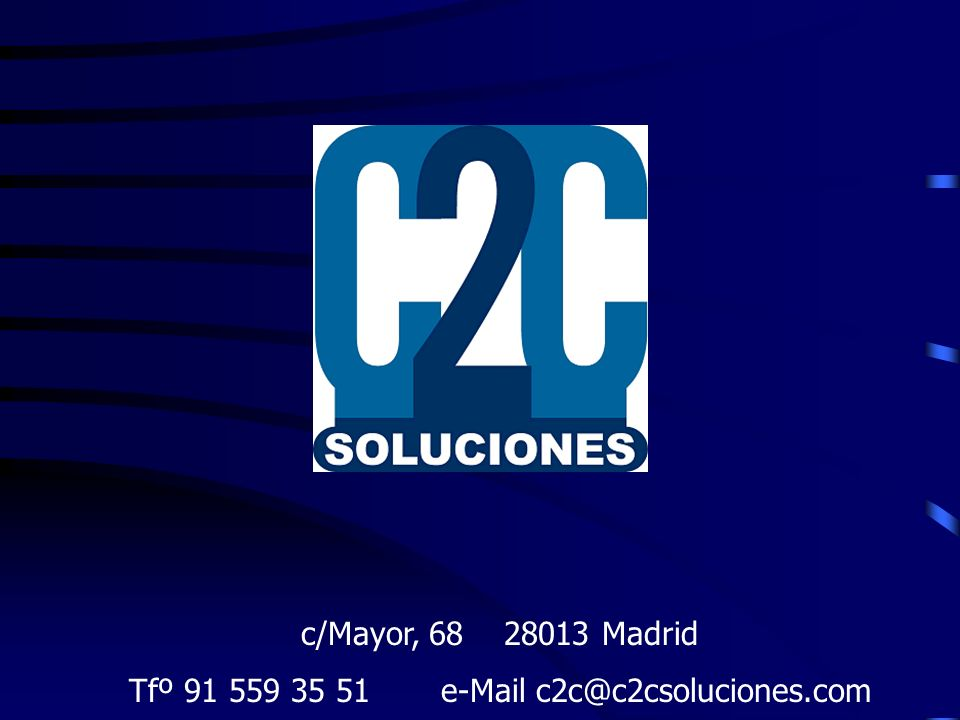 Tfº 91 559 35 51 e-Mail c2c@c2csoluciones.com