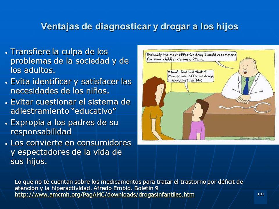 Ventajas de diagnosticar y drogar a los hijos
