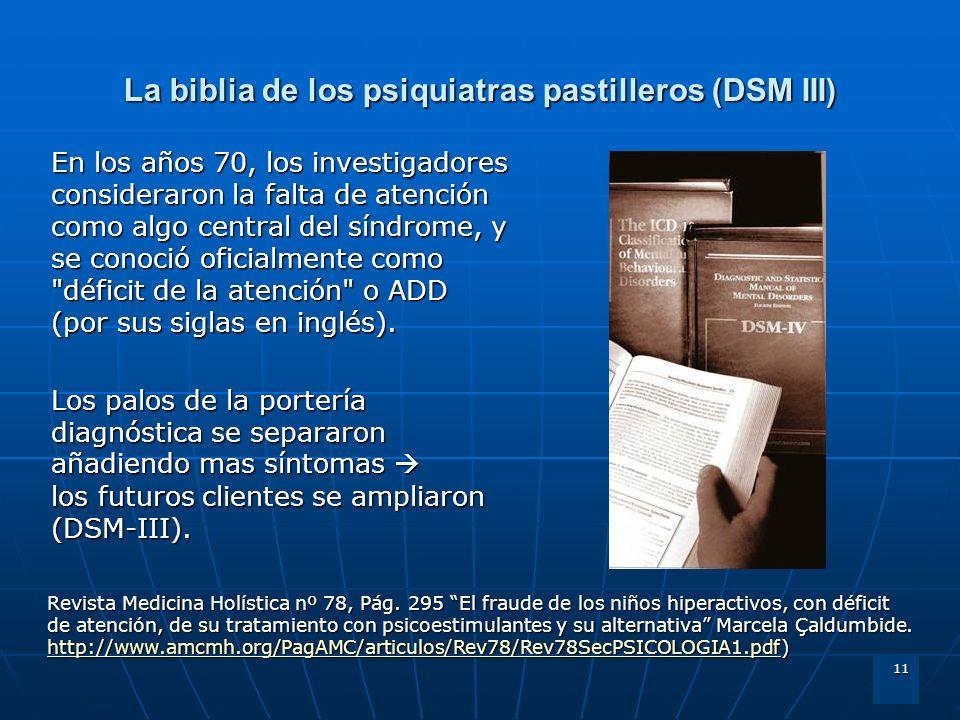 La biblia de los psiquiatras pastilleros (DSM III)