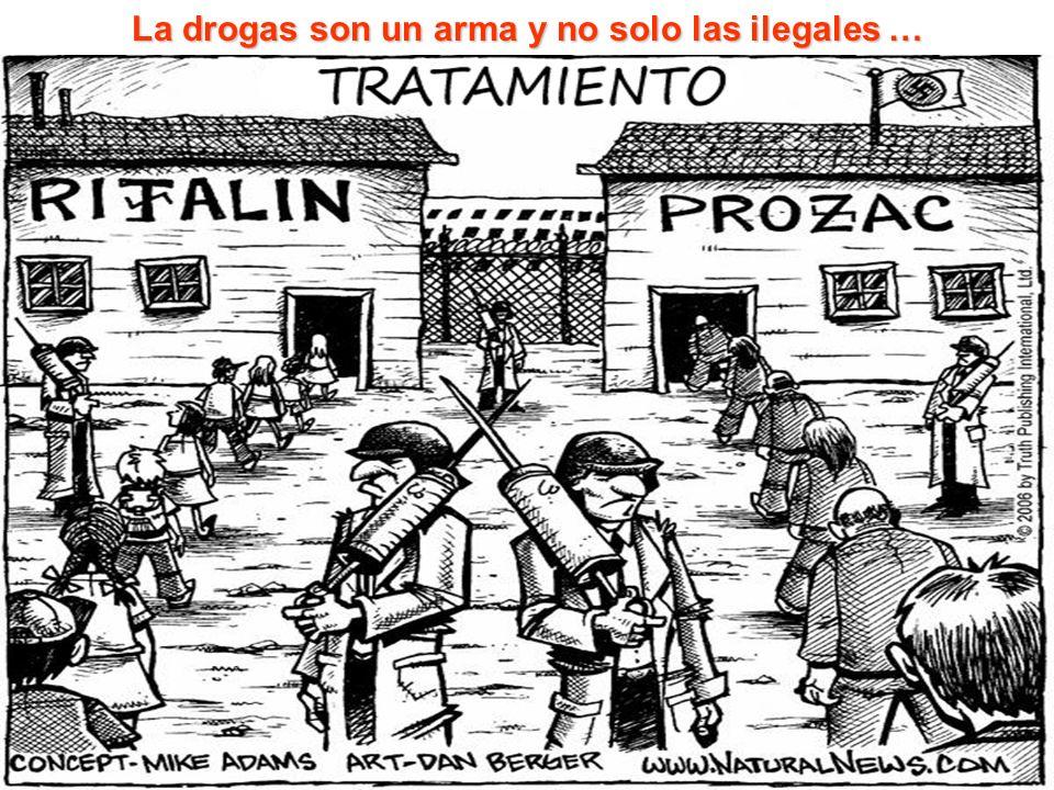 La drogas son un arma y no solo las ilegales …