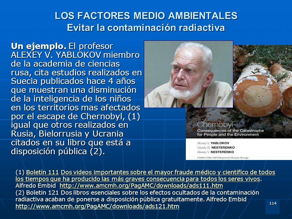 LOS FACTORES MEDIO AMBIENTALES Evitar la contaminación radiactiva