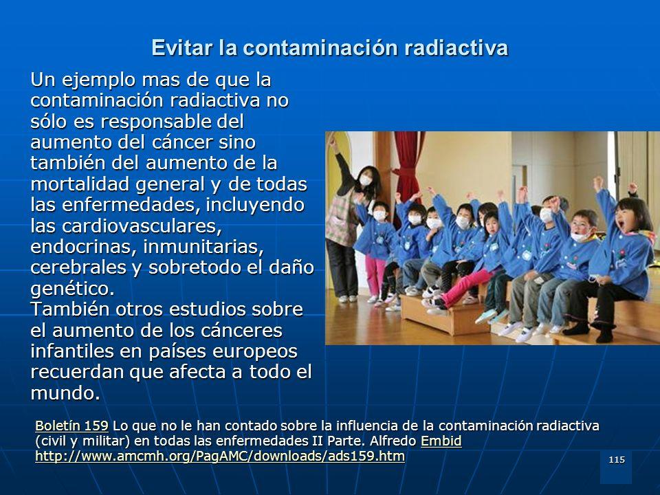 Evitar la contaminación radiactiva