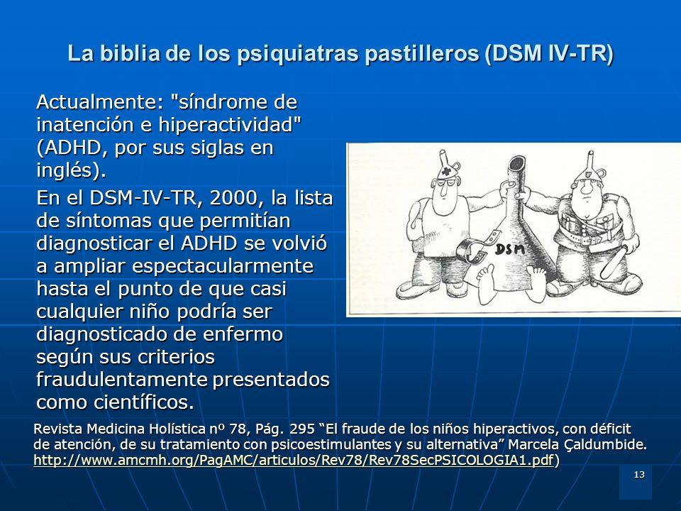 La biblia de los psiquiatras pastilleros (DSM IV-TR)