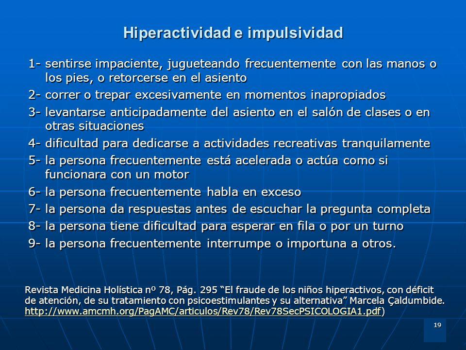 Hiperactividad e impulsividad