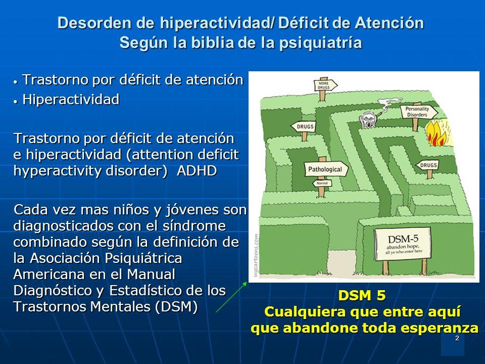 Desorden de hiperactividad/ Déficit de Atención