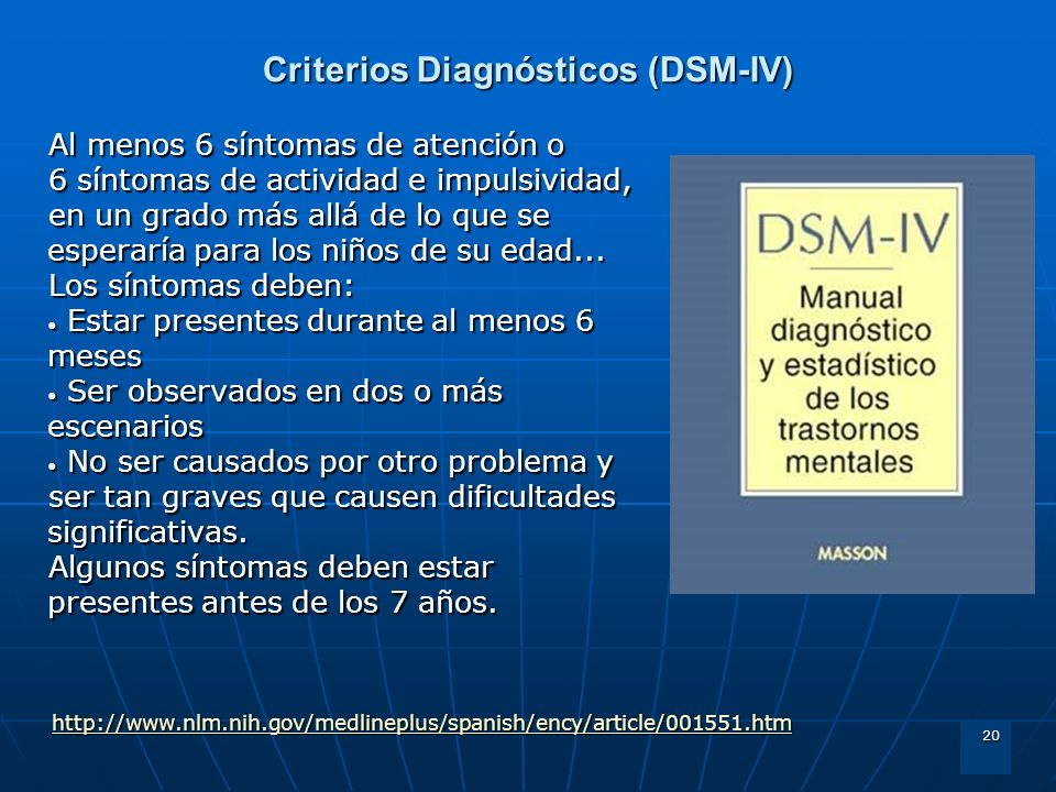 Criterios Diagnósticos (DSM-IV)