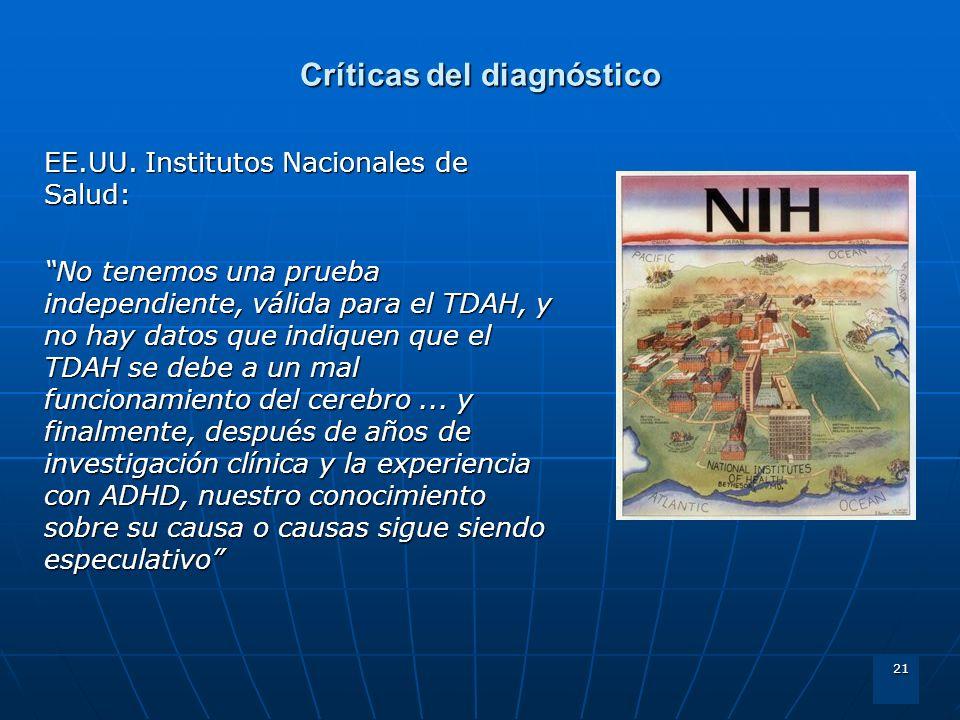Críticas del diagnóstico