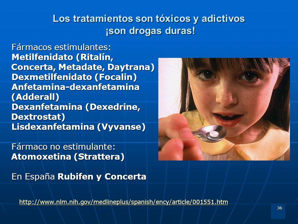 Los tratamientos son tóxicos y adictivos ¡son drogas duras!