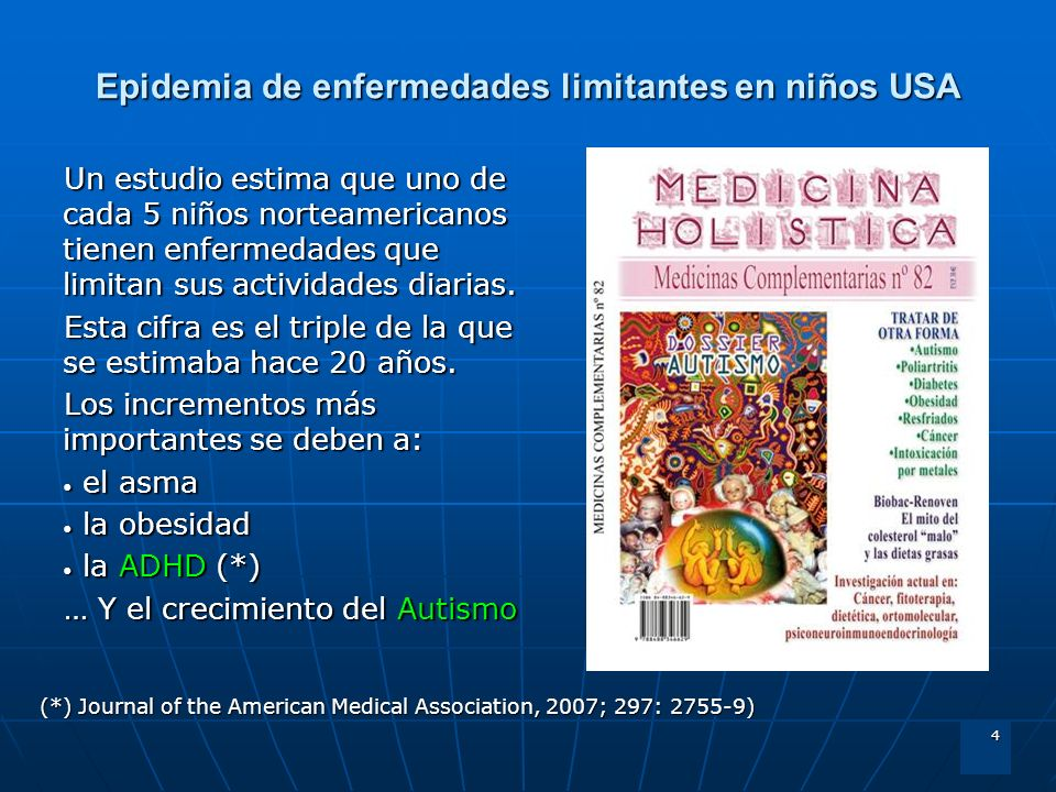 Epidemia de enfermedades limitantes en niños USA