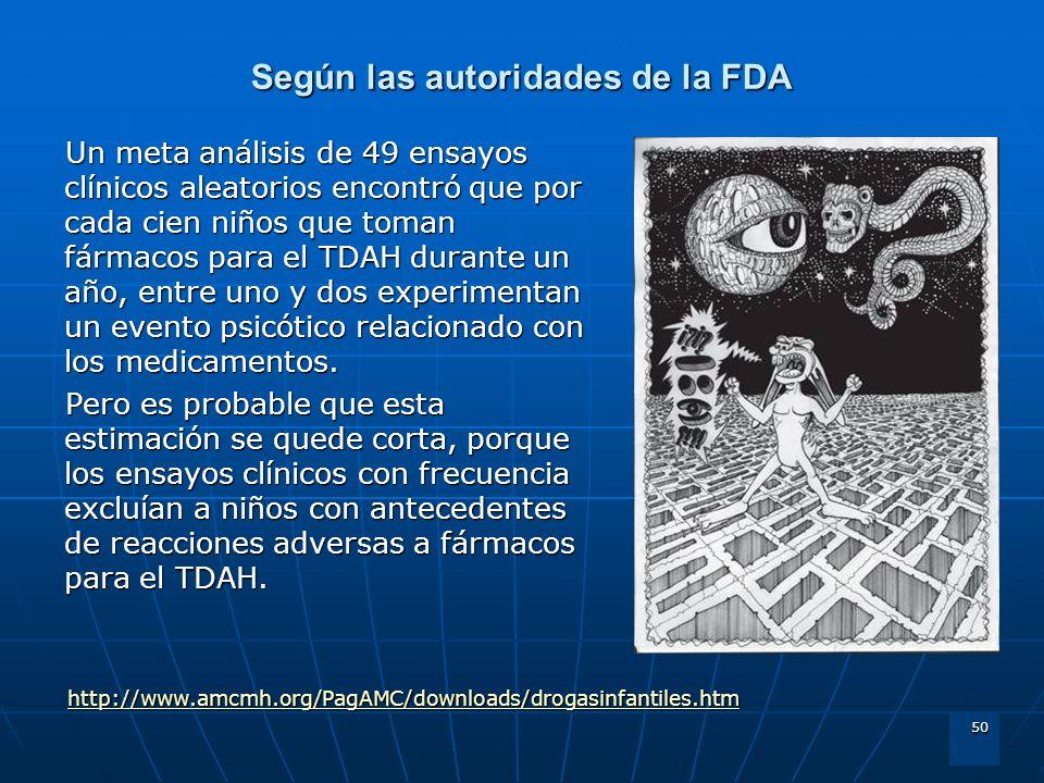 Según las autoridades de la FDA