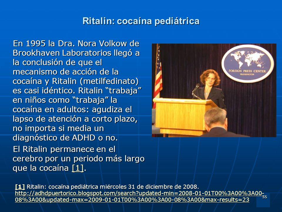 Ritalin: cocaína pediátrica