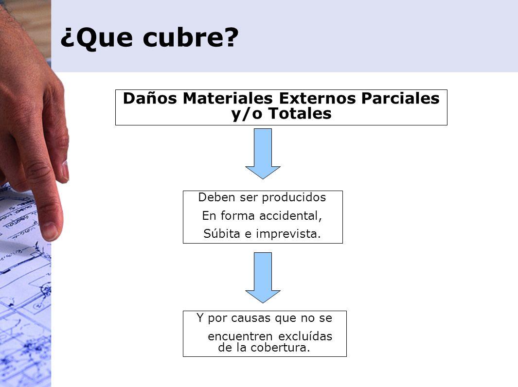 Daños Materiales Externos Parciales y/o Totales