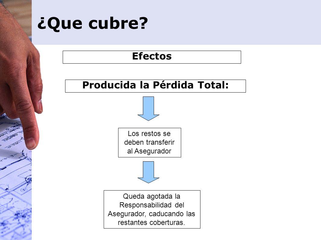 Producida la Pérdida Total: