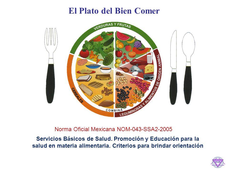 El Plato del Bien Comer Norma Oficial Mexicana NOM-043-SSA2-2005