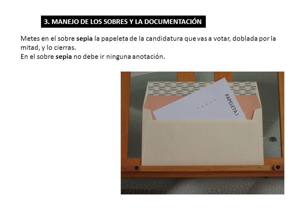 3. MANEJO DE LOS SOBRES Y LA DOCUMENTACIÓN