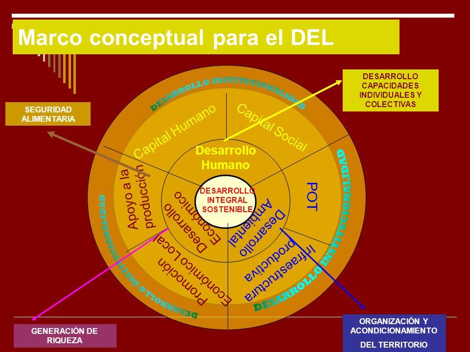 Marco conceptual para el DEL