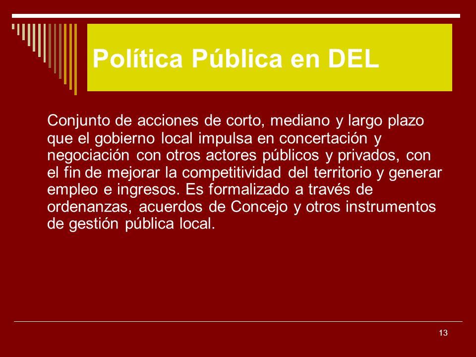 Política Pública en DEL