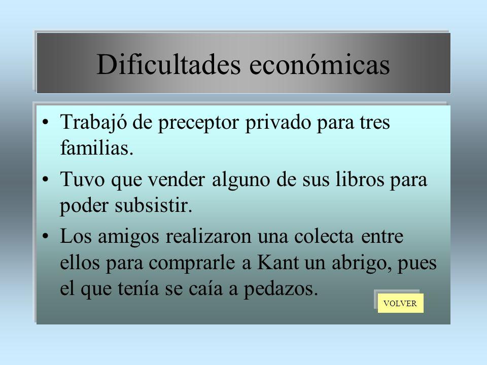 Dificultades económicas