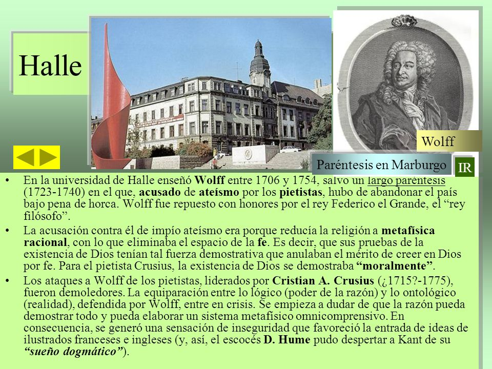 Halle Wolff Paréntesis en Marburgo IR
