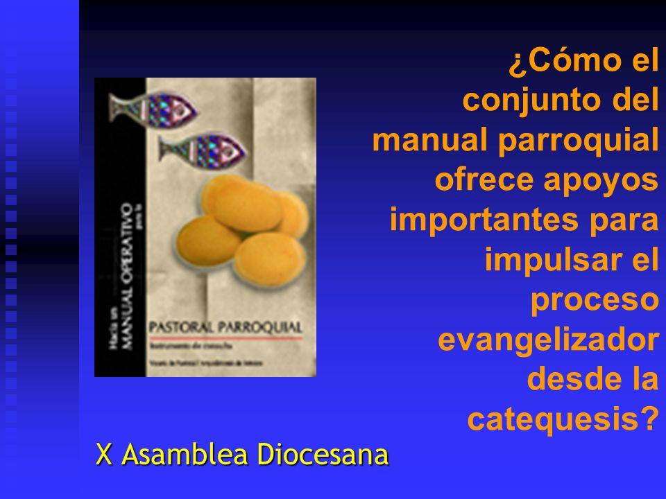 ¿Cómo el conjunto del manual parroquial ofrece apoyos importantes para impulsar el proceso evangelizador desde la catequesis