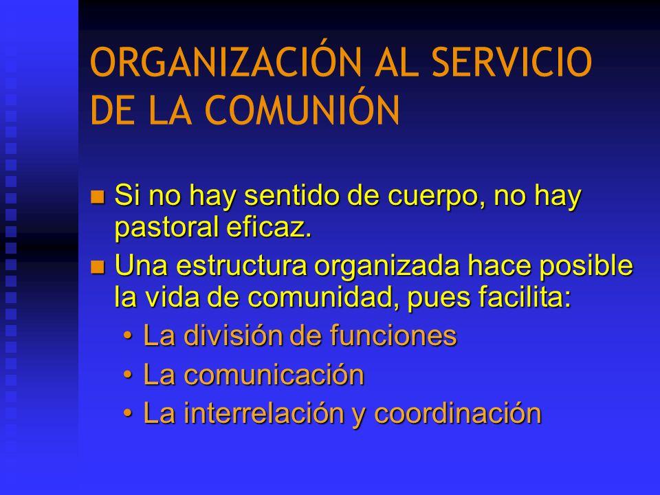 ORGANIZACIÓN AL SERVICIO DE LA COMUNIÓN