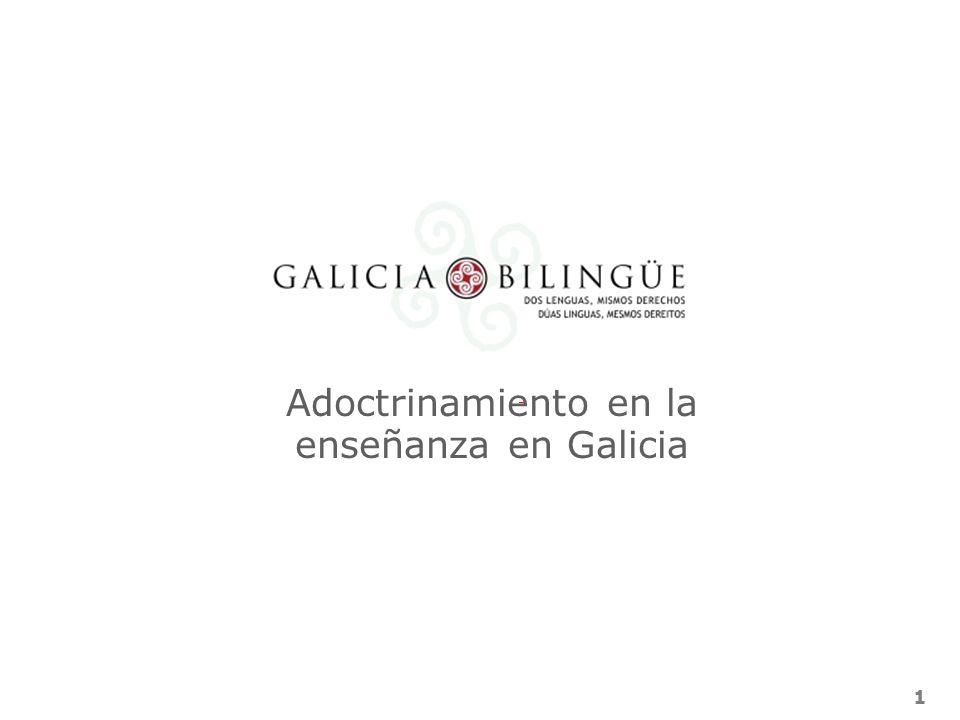 Adoctrinamiento en la enseñanza en Galicia
