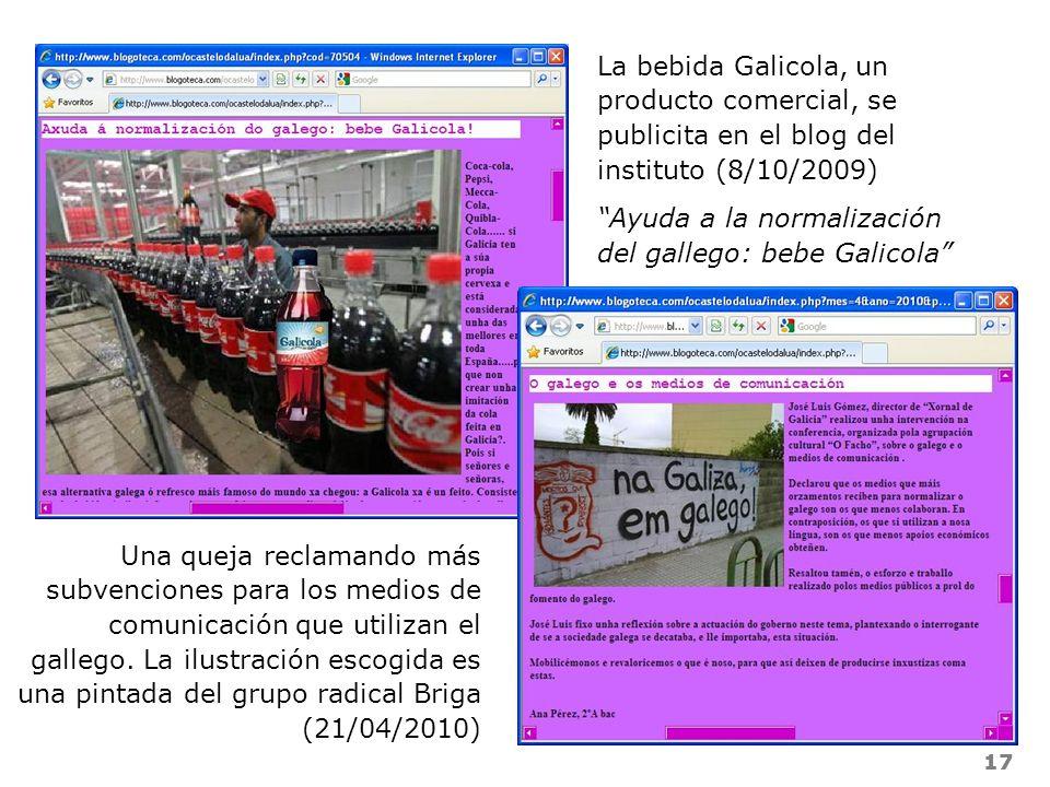 Ayuda a la normalización del gallego: bebe Galicola
