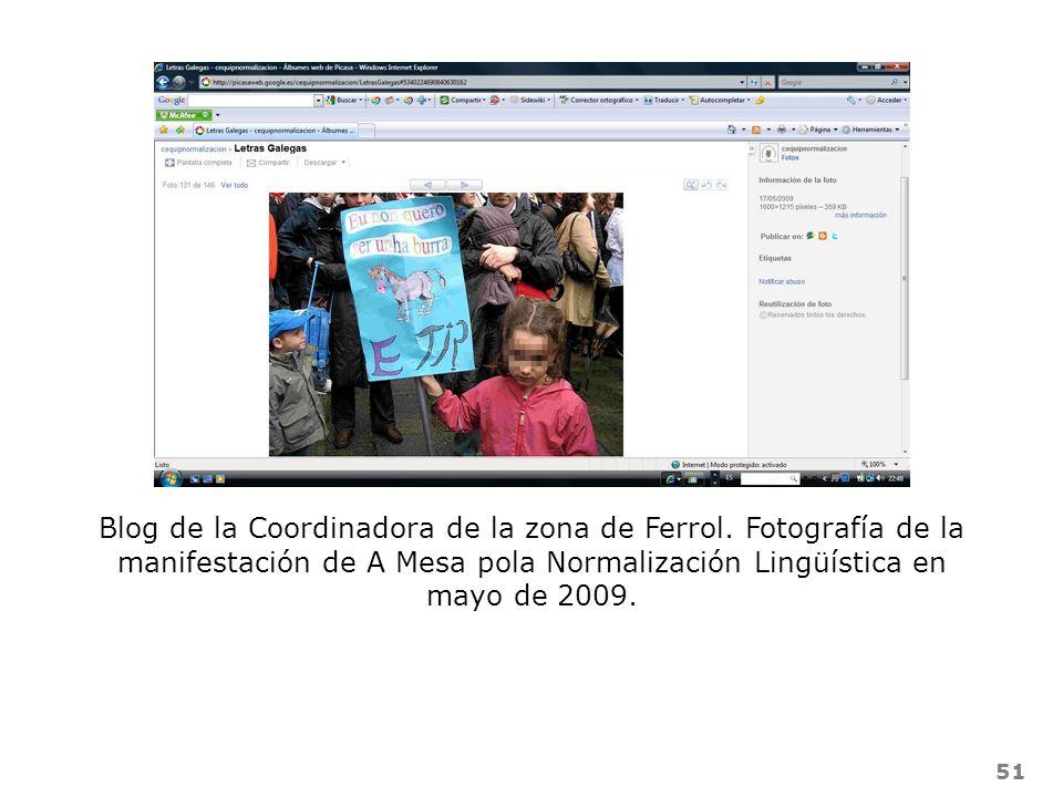 Blog de la Coordinadora de la zona de Ferrol