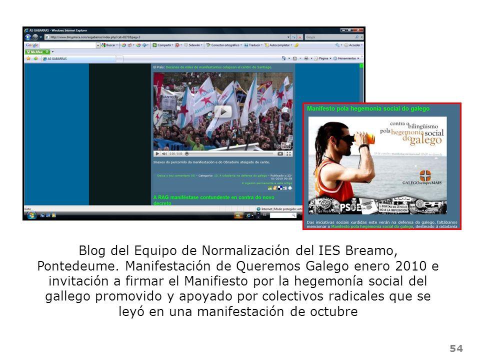 Blog del Equipo de Normalización del IES Breamo, Pontedeume