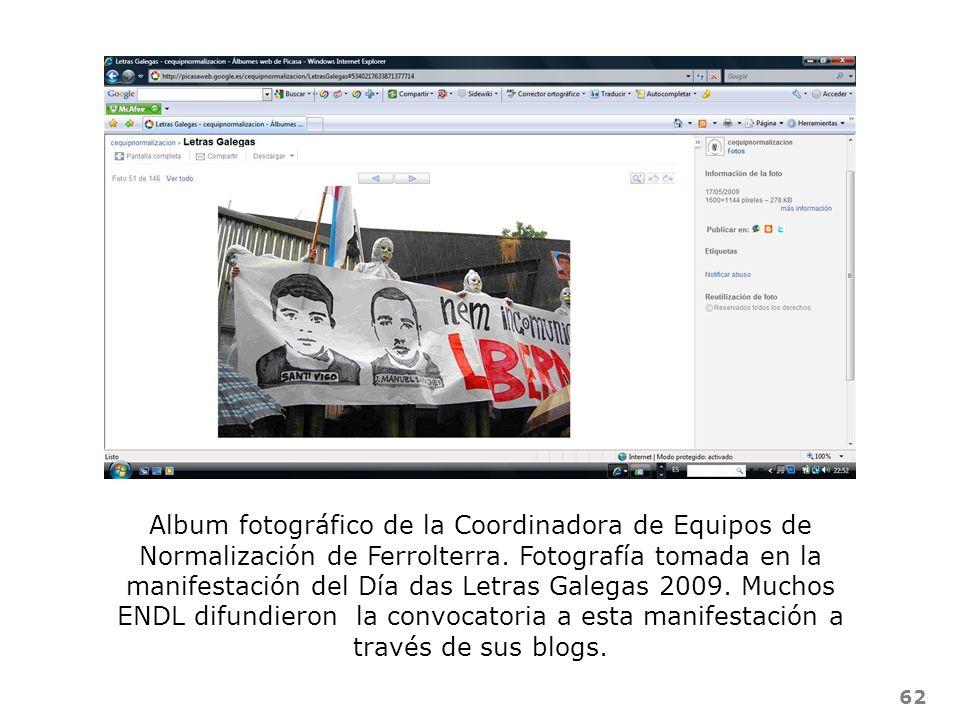 Album fotográfico de la Coordinadora de Equipos de Normalización de Ferrolterra.