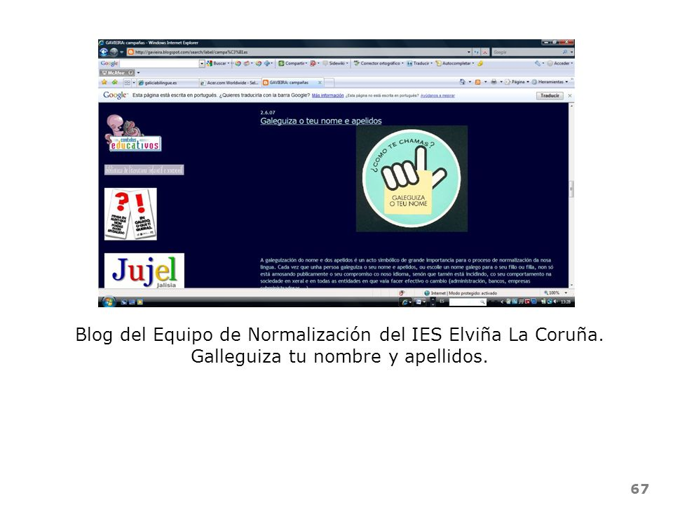 Blog del Equipo de Normalización del IES Elviña La Coruña