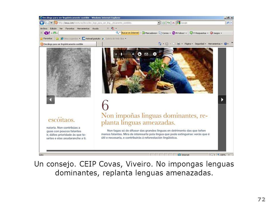 Un consejo. CEIP Covas, Viveiro