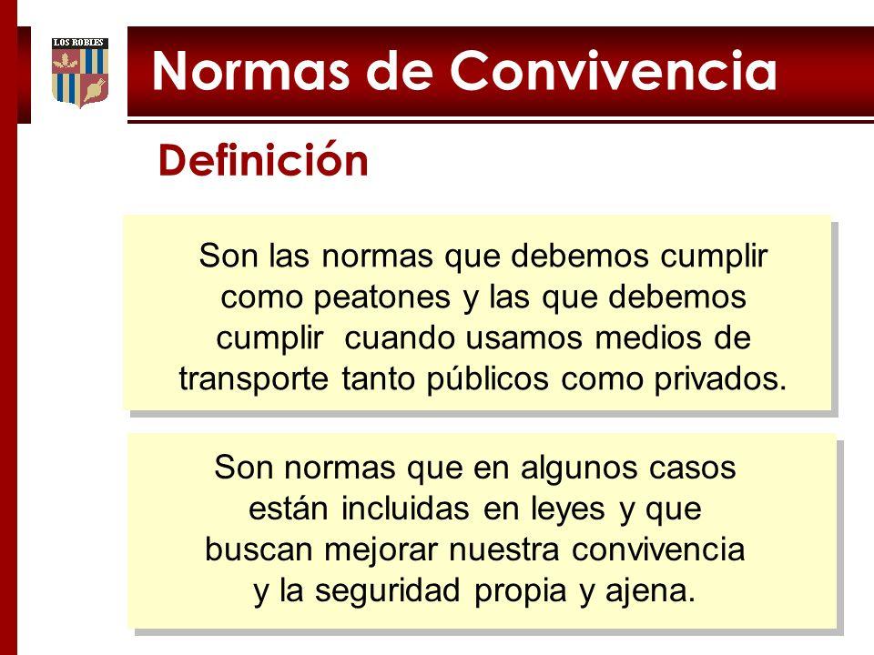 Normas de Convivencia Definición