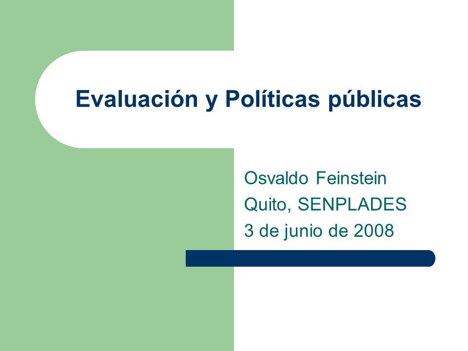 Evaluación y Políticas públicas