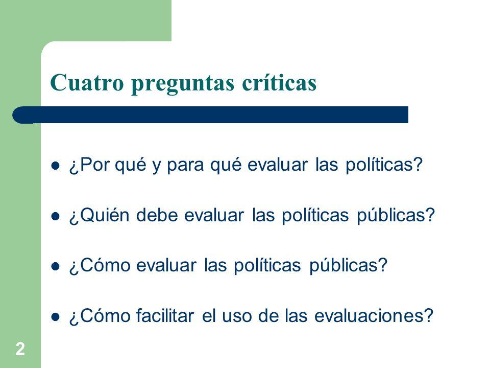Cuatro preguntas críticas