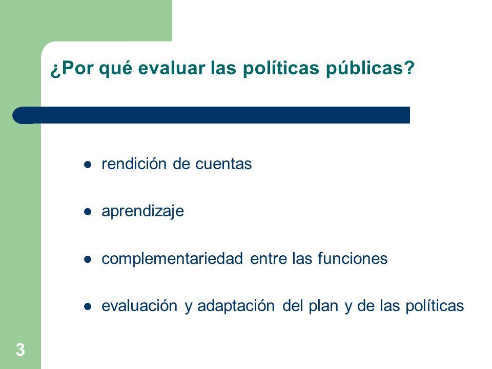 ¿Por qué evaluar las políticas públicas