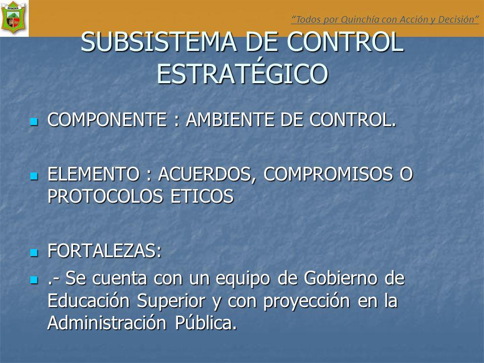 SUBSISTEMA DE CONTROL ESTRATÉGICO