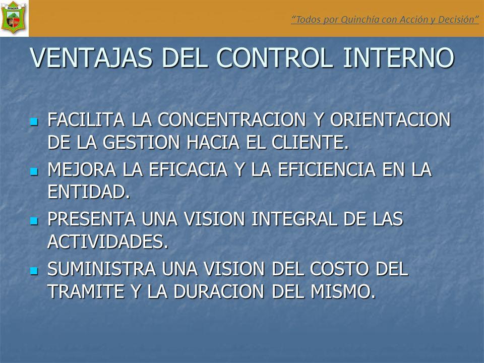 VENTAJAS DEL CONTROL INTERNO