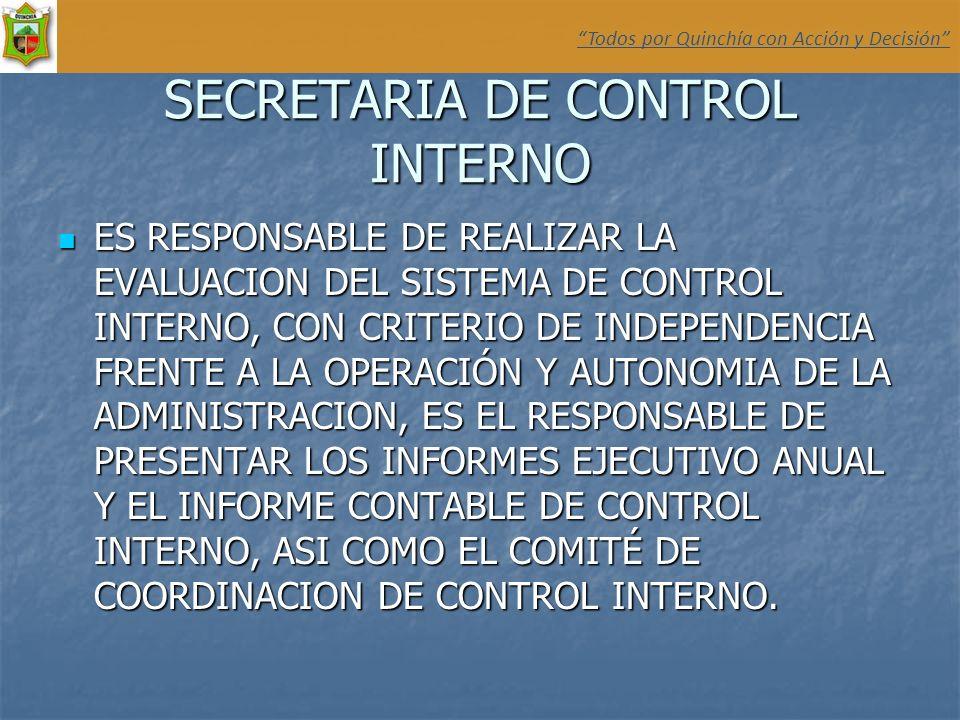 SECRETARIA DE CONTROL INTERNO
