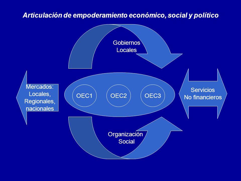 Articulación de empoderamiento económico, social y político