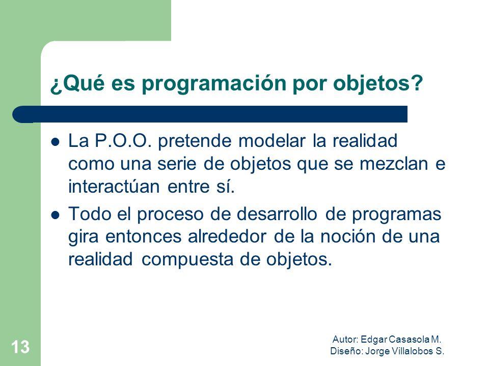 ¿Qué es programación por objetos