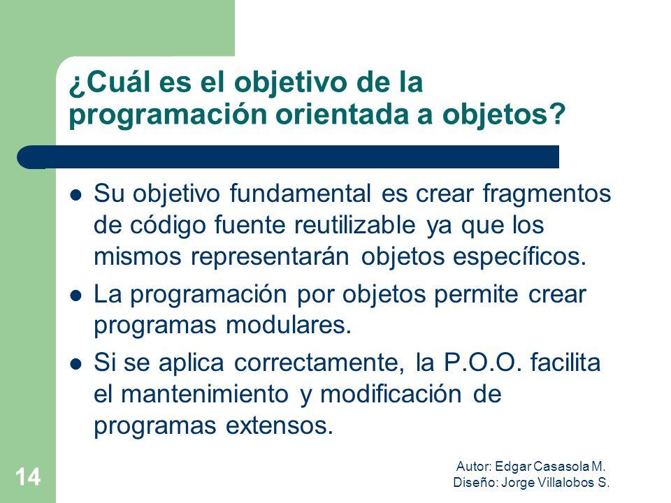 ¿Cuál es el objetivo de la programación orientada a objetos