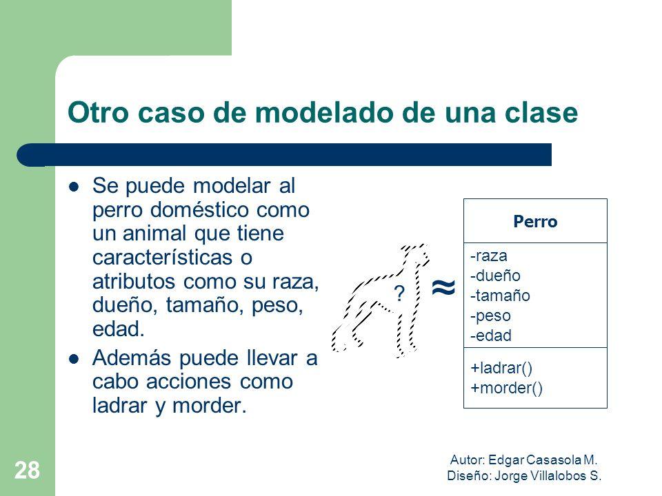Otro caso de modelado de una clase
