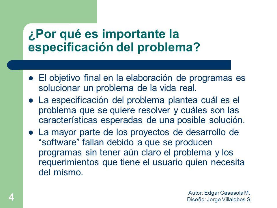 ¿Por qué es importante la especificación del problema