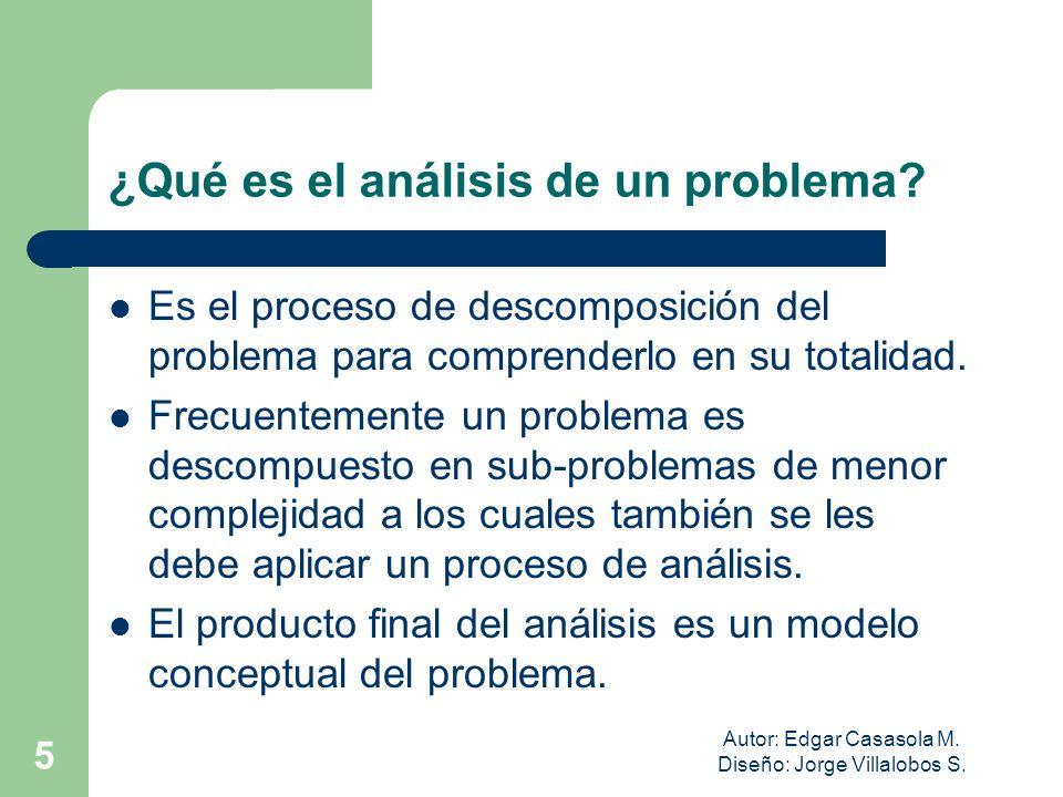 ¿Qué es el análisis de un problema