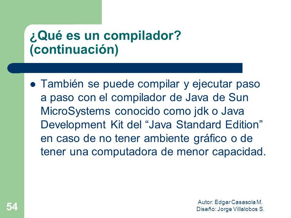 ¿Qué es un compilador (continuación)