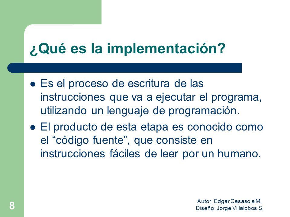 ¿Qué es la implementación