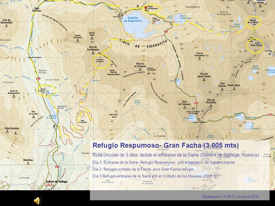 Álbum de fotografías Refugio Respumoso- Gran Facha (3.005 mts)