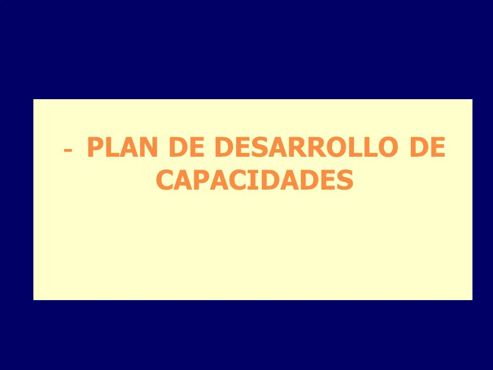 - PLAN DE DESARROLLO DE CAPACIDADES