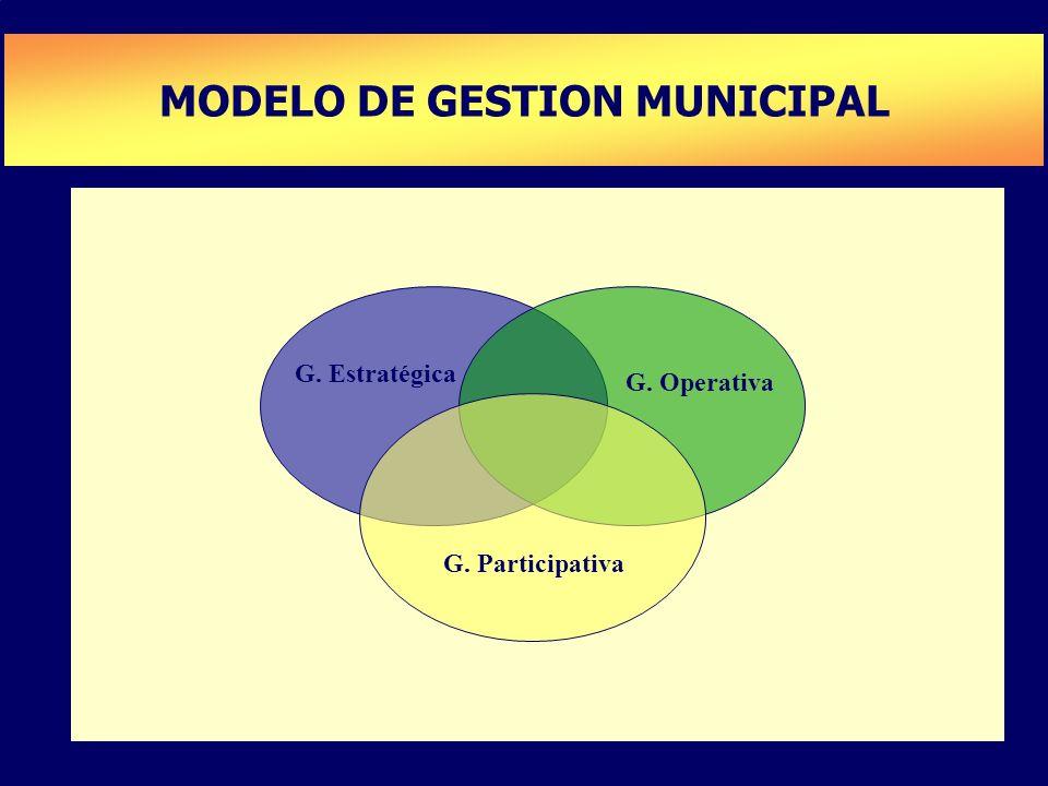 MODELO DE GESTION MUNICIPAL PLAN DE DESARROLLO DE CAPACIDADES